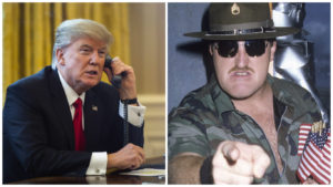Donalk Trump and Sgt. Slaughter